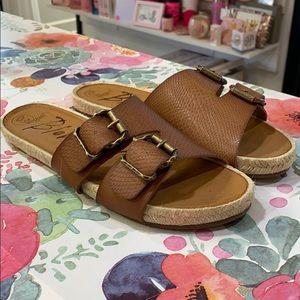 Brand new brown Blowfish sandals